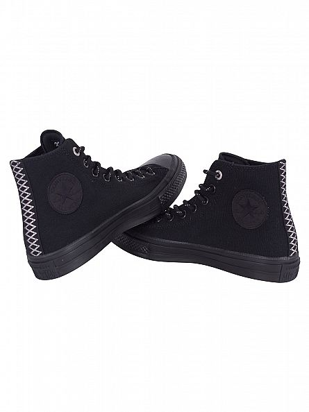 Converse Black/Black/Gum Chuck Taylor All Star Hi Trainers