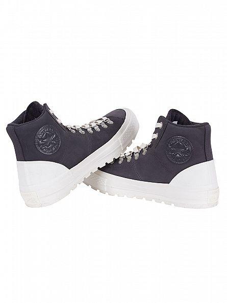 Converse Almost Black/Egret/Ash Grey Chuck Taylor Street Hiker Hi Trainers