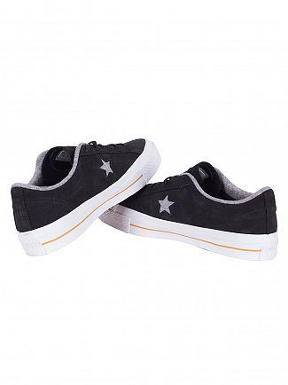 Converse Black/Ash Grey/Gum One Star Nubuck Ox Trainers