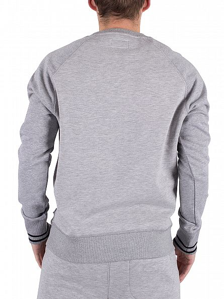 Converse Vintage Grey Heather Tipped Marled Graphic Sweatshirt