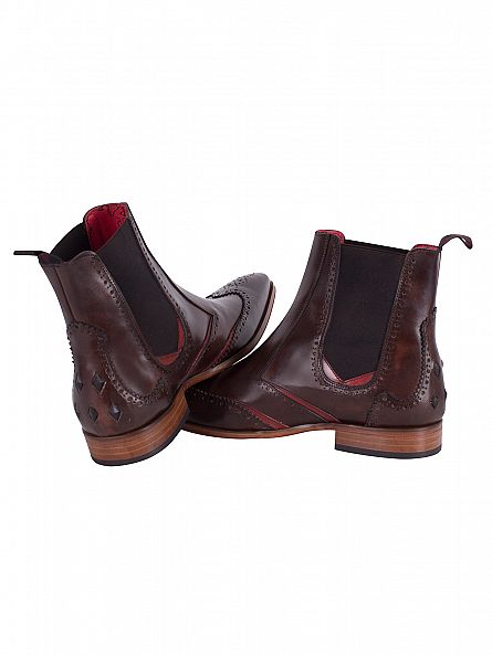 Jeffery West Dark Brown/Red Scarface Hi Tequila Shoes