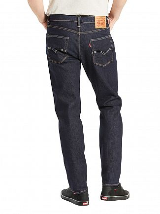 Levi's Dark Wash 502 Regular Taper Chain Rinse Jeans