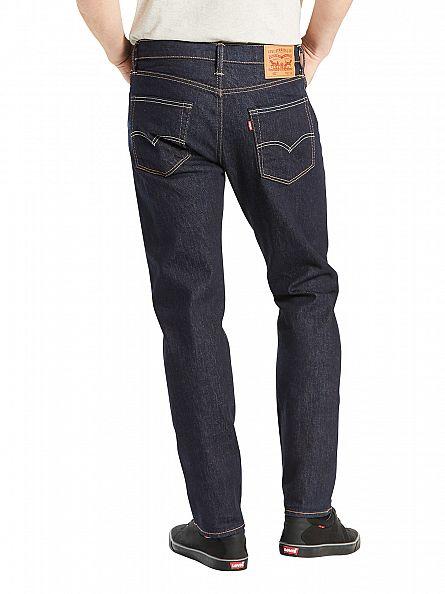 Levi's Dark Wash 502 Regular Taper Chain Rinse Jeans