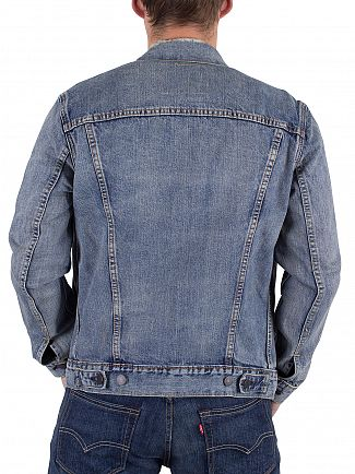 Levi's Light Wash Chad Worn Look Trucker Jacket