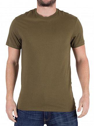 Levi's Mid Grey/Dark Olive Slim Fit 2 Pack T-Shirts