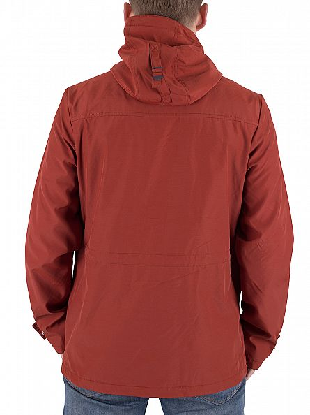 Lyle & Scott Burnt Redwood Microfleece Lined Logo Jacket