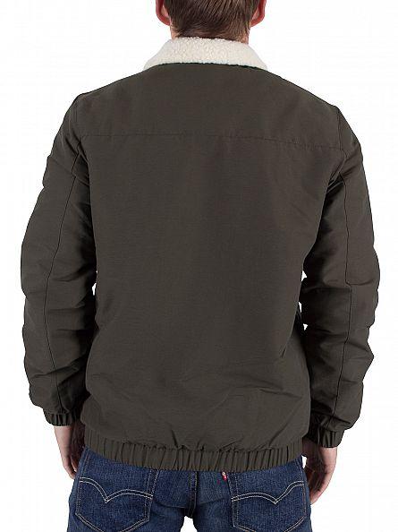 Lyle & Scott Dark Sage Shearling Lined Bomber Jacket