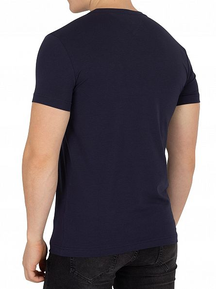 Tommy Hilfiger Navy Blazer Slim Fit Stretch Logo T-Shirt