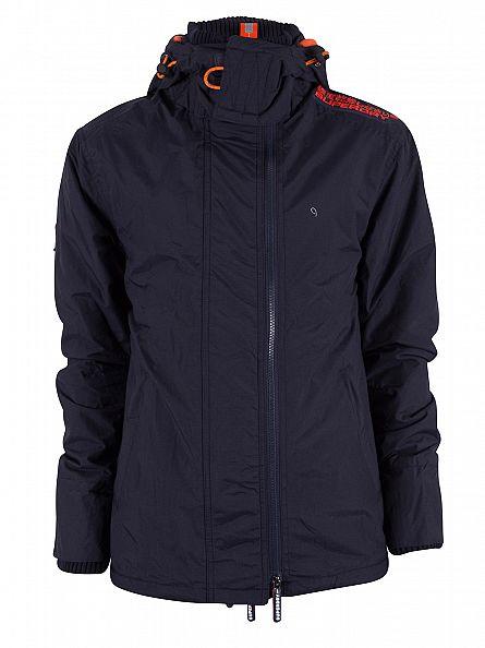 Superdry French Navy/Jaffa Pop Zip Hood Arctic Windcheater Jacket
