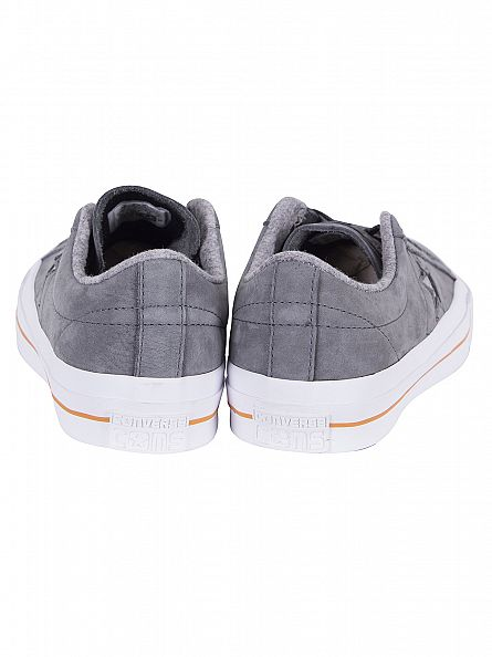 Converse Thunder/Ash Grey/Gum One Star Nubuck Ox Trainers