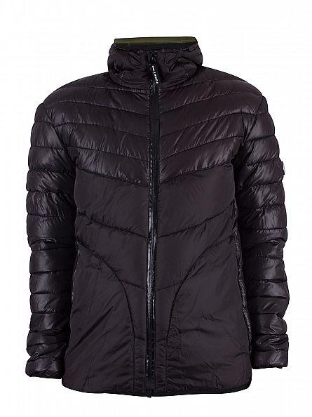 Foray Black Nickel Puffa Jacket