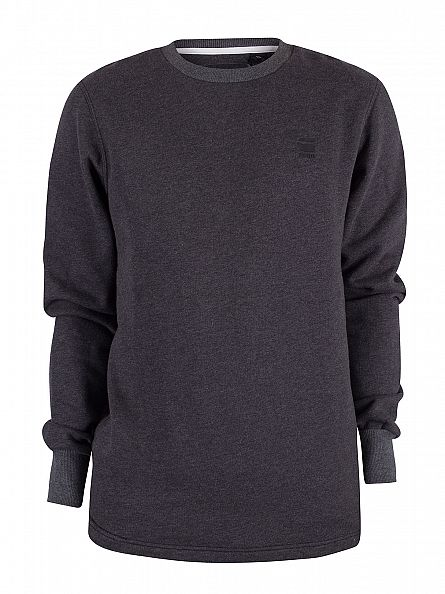 G-Star Dark Black Heather Calow Marled Logo Sweatshirt