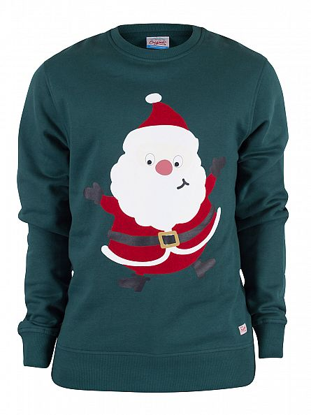 Jack & Jones June Bug Merry Father Christmas Sweatshirt