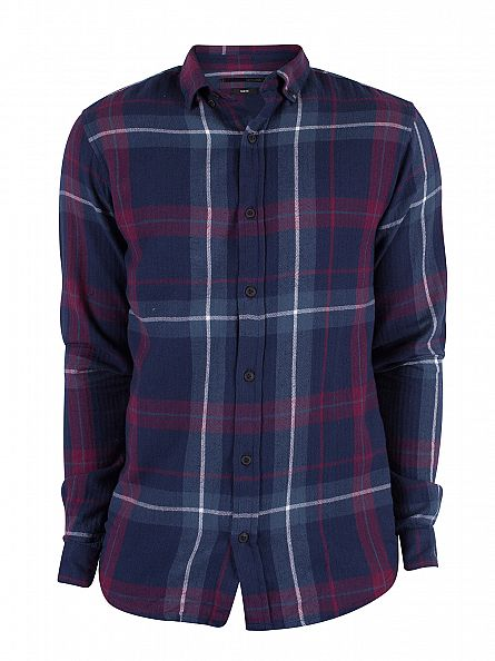 Only & Sons Tawny Port Slim Fit Longsleeved Erik Checked Shirt