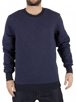 G-Star Sartho Blue Heather Apxel Stitched Longsleeved Sweat