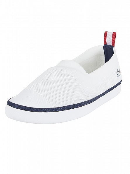 Lacoste White Lydro 117 1 CAM Slip-on Trainers