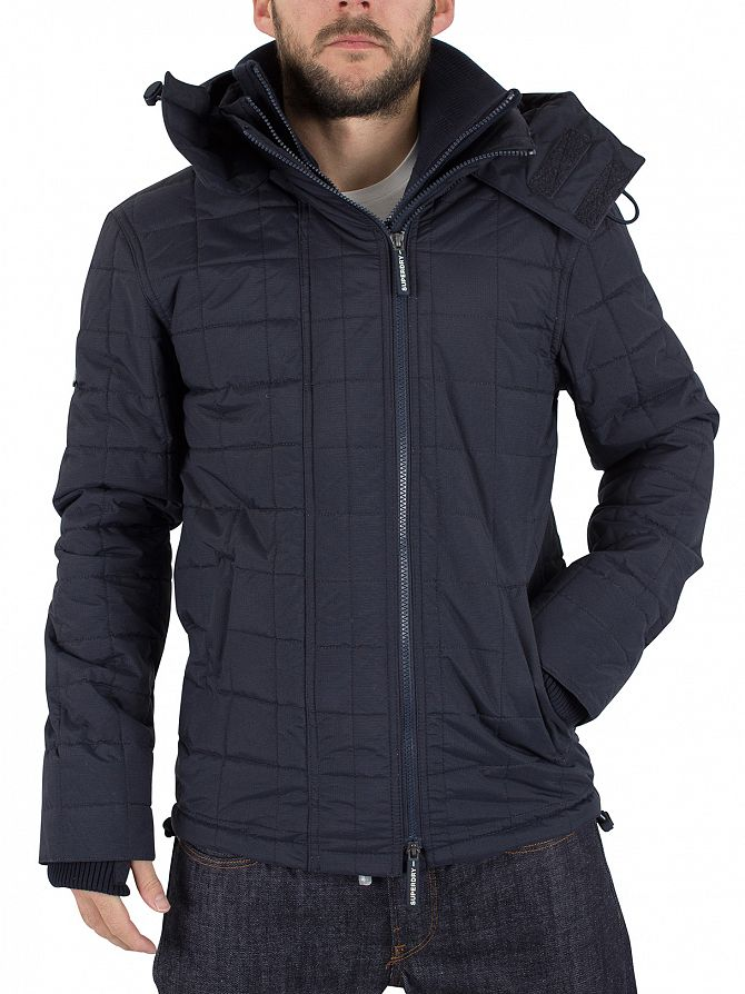 superdry french navy french navy quilted athletic On superdry quilted jacket