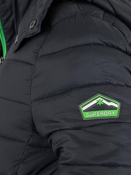 Superdry Dark Petrol Fuji Double Zip Logo Jacket