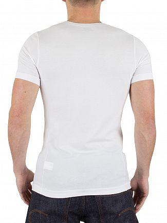 Polo Ralph Lauren White Stretch Cotton Logo T-Shirt