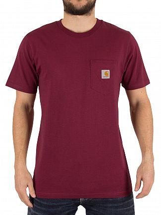 Carhartt WIP Varnish Red Pocket Logo T-Shirt