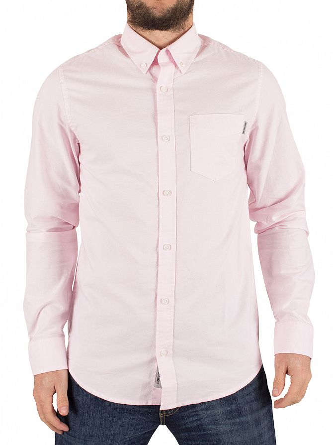 Carhartt WIP Vegas Pink Slim Fit Button Down Pocket Shirt