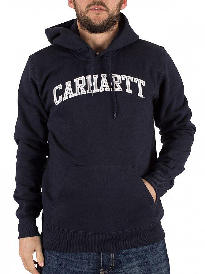 Carhartt WIP Navy/White Yale Arch Logo Hoodie