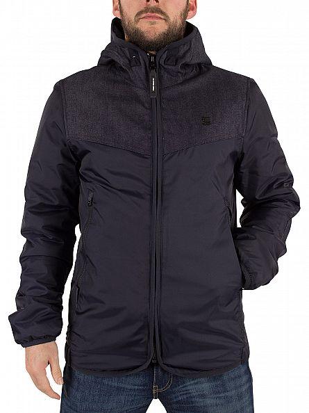 G-Star Mazarine Blue Setscale Denim Hood Logo Jacket