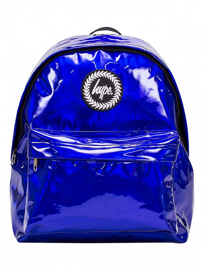 Hype Blue Holographic Logo Backpack