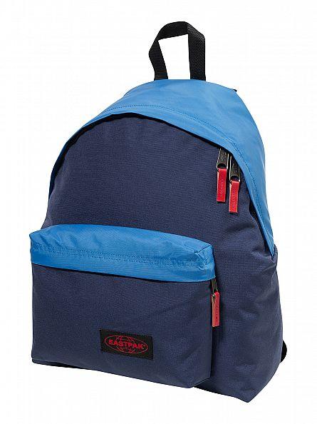 Eastpak Combo Blue Padded PakR Logo Backpack
