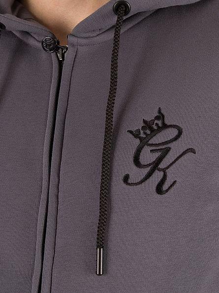 Gym King Steel Core Tracksuit Zip Logo Hoodie