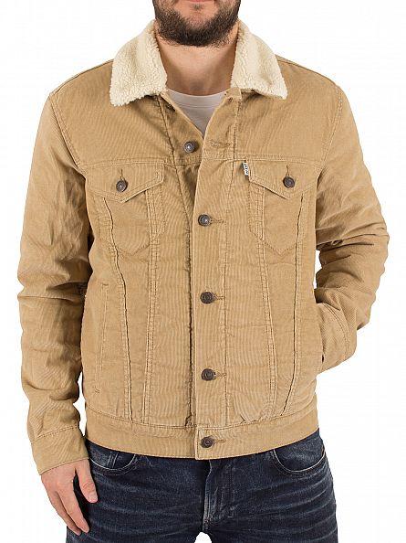 Levi's Camel Good Chino Sherpa Trucker Jacket