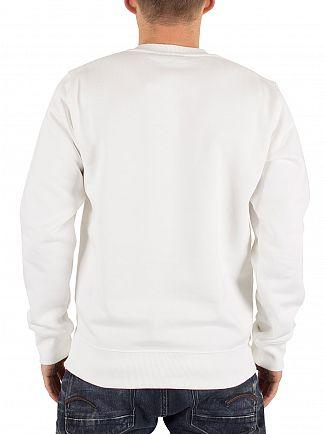 Carhartt WIP White/Navy Yale Arch Logo Sweatshirt