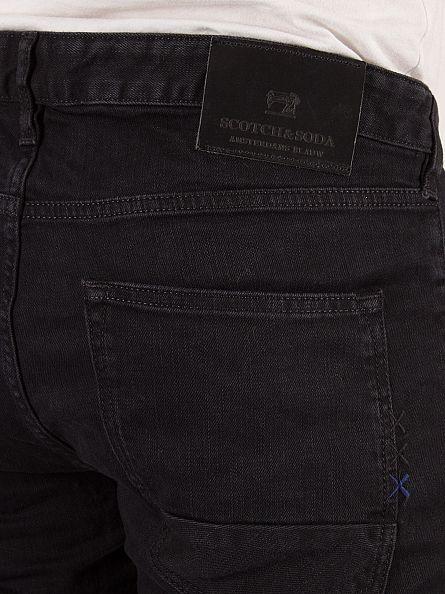 Scotch & Soda Black The Nero Skim Skinny Fit Jeans