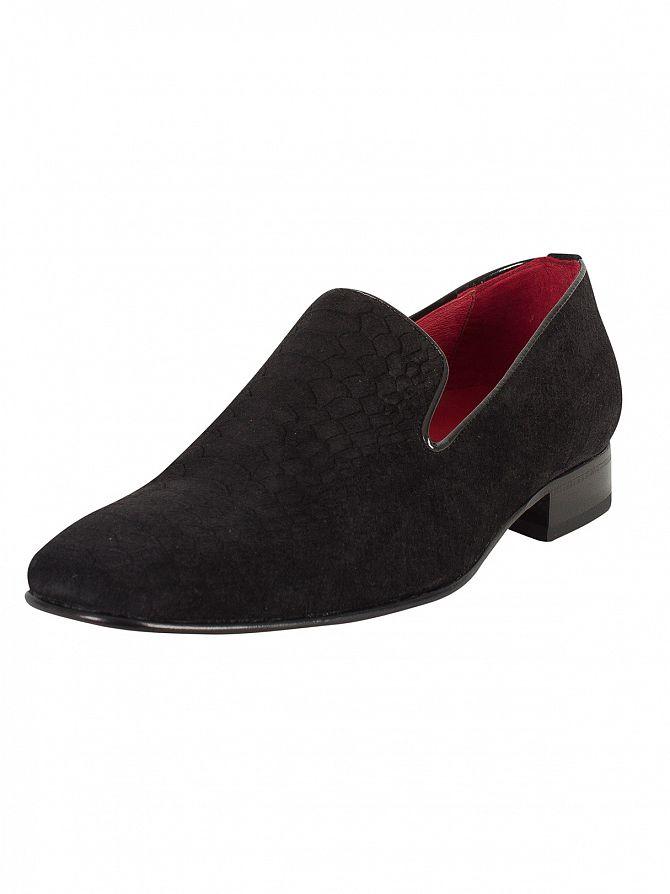 Jeffery West Black Para VIV Black Androme Snakeskin Shoes