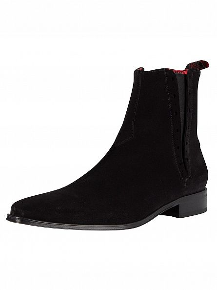 jeffery west black suede boots stand out