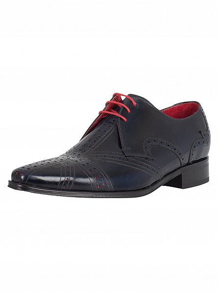 Jeffery West Dark Blue/Red Union Jack Shoes
