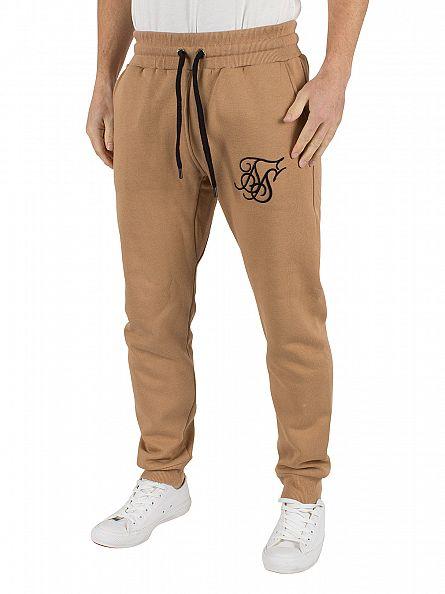 Sik Silk Beige Standard Skinny Logo Joggers