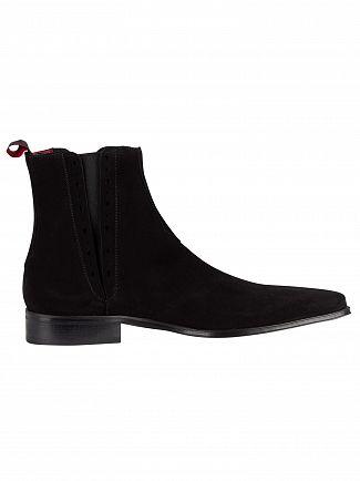 Jeffery West Black Suede Boots
