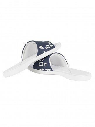 Lacoste Navy/White L.30 Slide 117 2 CAM Flip Flops