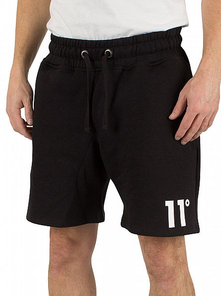 11 Degrees Black Logo Sweatshorts