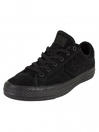 Converse Black/Black/Black Star Player OX Trainers