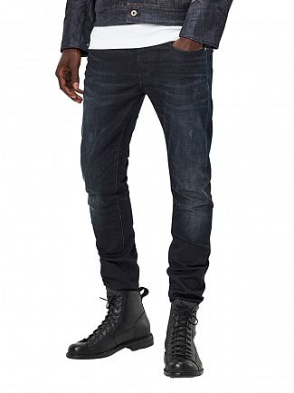 G-Star Dark Aged 3301 Slim Fit Jeans