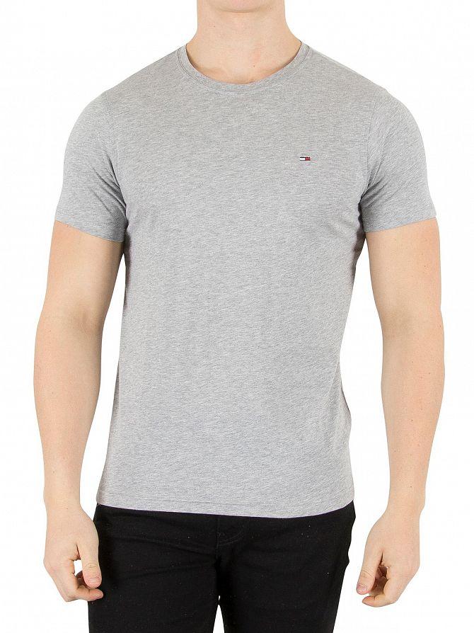 Tommy Hilfiger Denim Light Grey Marl Original Logo T-Shirt