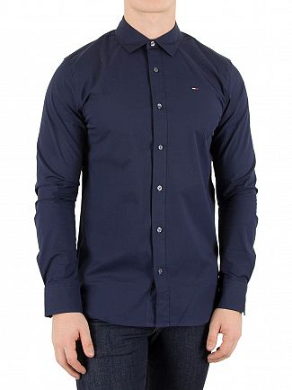 Tommy Hilfiger Denim Navy Original Slim Fit Logo Shirt