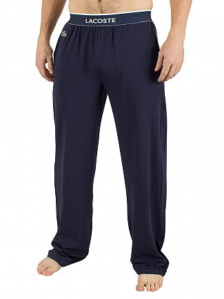 Lacoste Dark Blue Logo Waistband Pyjama Bottoms
