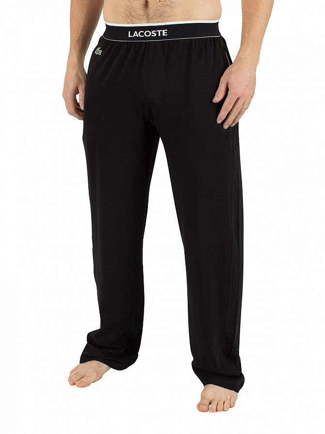 Lacoste Black Logo Waistband Pyjama Bottoms