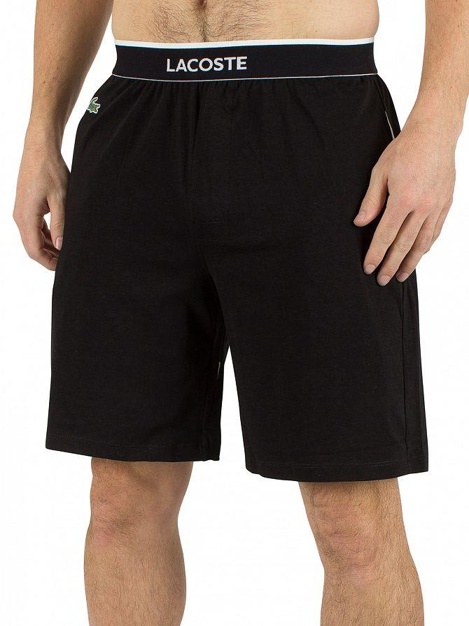 Lacoste Black Logo Waistband Pyjama Shorts