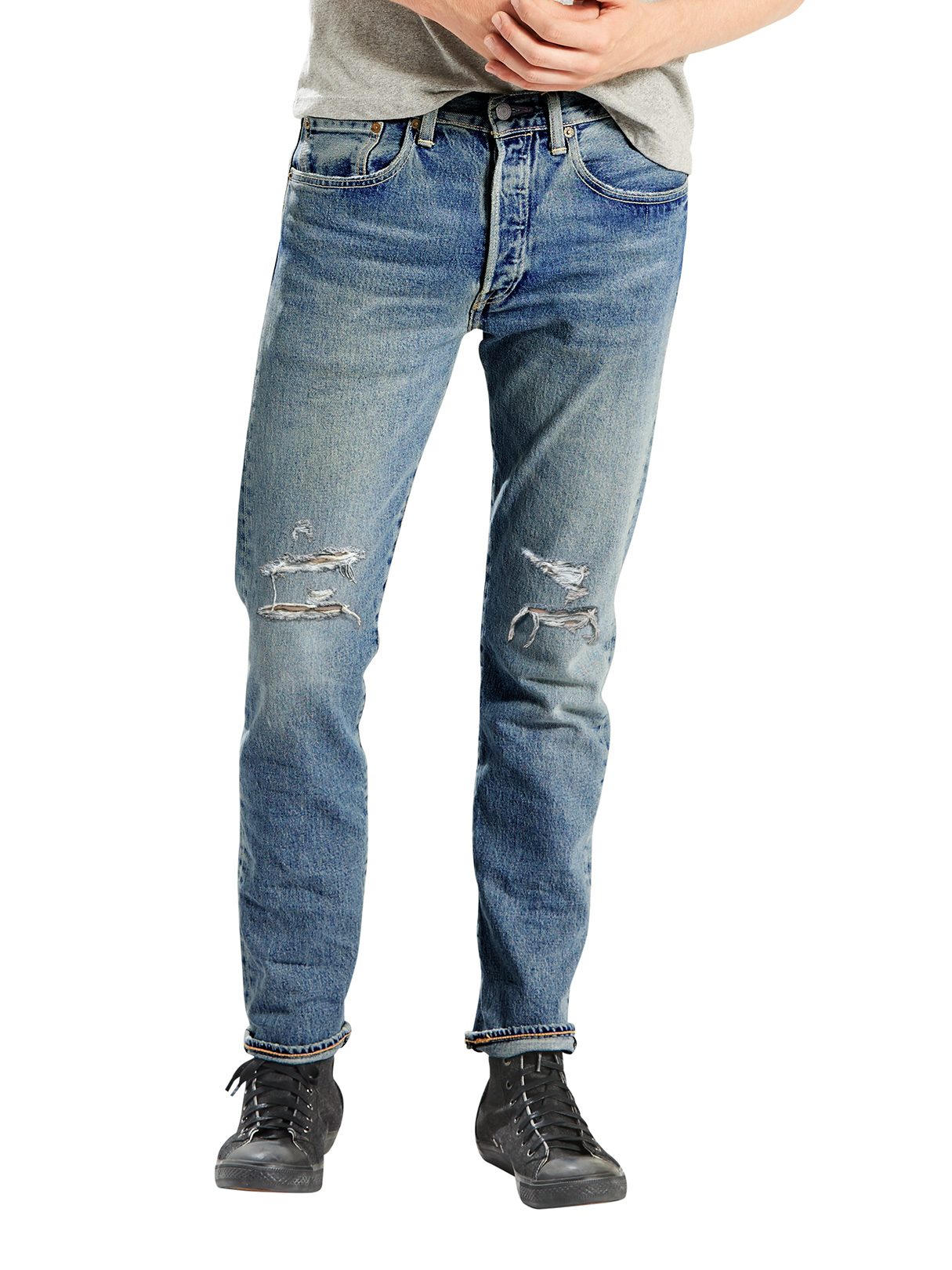 levi 39 s light wash 501 skinny bad boy jeans stand out. Black Bedroom Furniture Sets. Home Design Ideas