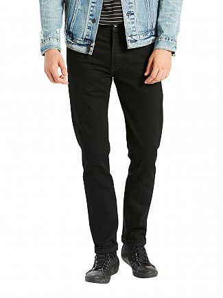 LEVI'S DARK DENIM 501 SKINNY FIT BLACK PUNK JEANS