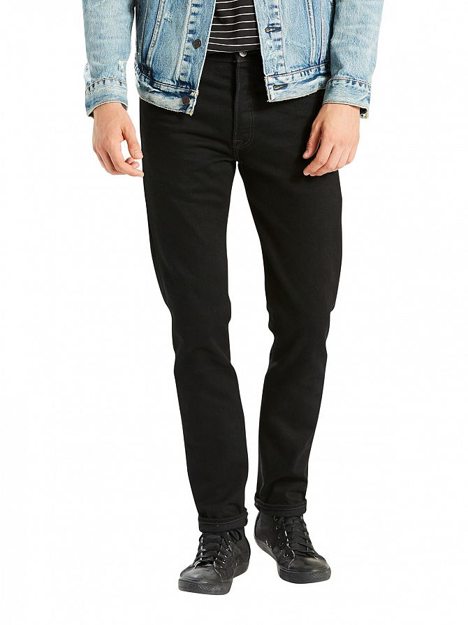 Levi's Dark Denim 501 Skinny Fit Black Punk Jeans